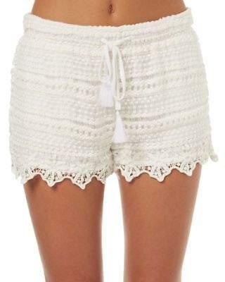 Swell New Women's Womens Summer Crochet Short Cotton Crochet White