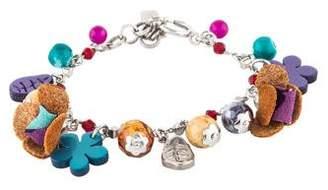 Etro Jasper & Resin Bead Floral Charm Bracelet