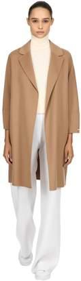 Double Wool Wrap Coat