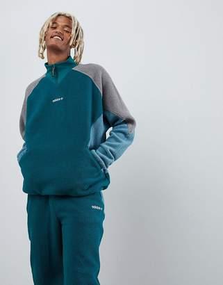 adidas EQT Polar Fleece Jacket In Green DH5194