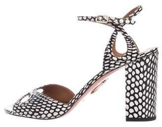 Aquazzura Snakeskin Vera Sandals w/ Tags