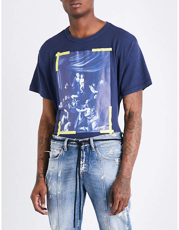 Off-White C/O Virgil Abloh Caravaggio-print cotton-jersey T-shirt