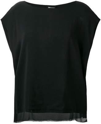 Kristensen Du Nord sheer trim loose fit blouse