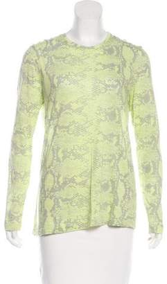 Proenza Schouler Printed Long Sleeve Top