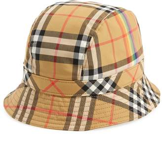 58047ab3356 Burberry Rainbow Stripe Vintage Check Bucket Hat