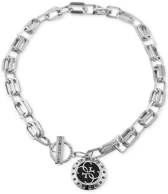 "GUESS Pave Link & Charm 16"" Pendant Necklace"