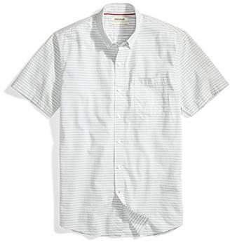 Goodthreads Amazon Brand Men's Standard-Fit Short-Sleeve Horizontal Stripe Shirt