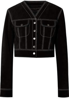 Marc Jacobs Cropped Suede Jacket - Black