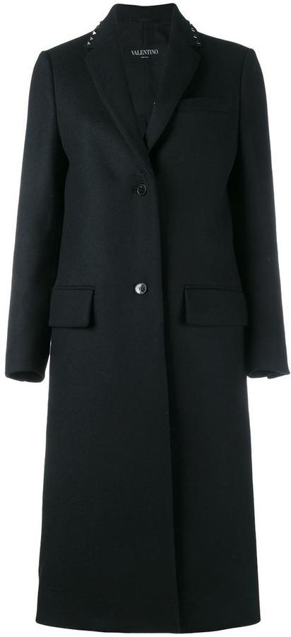 ValentinoValentino 'Rockstud' single breasted coat