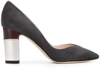 Pollini block heel pumps