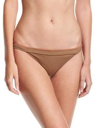 Letarte Whipstitch Solid Swim Bottom, Brown $102 thestylecure.com