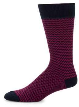 Saks Fifth Avenue Zigzag Crew Socks