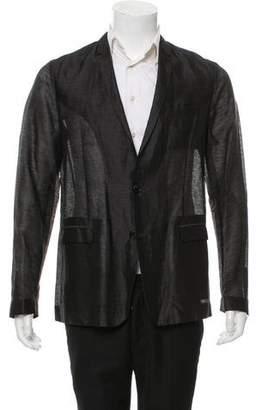 Christian Dior Linen & Silk-Blend Blazer