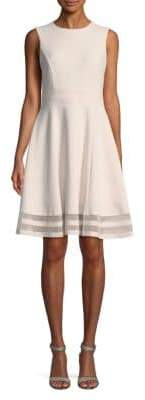 Calvin Klein Plus Plus Stripe A-Line Dress