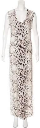 Haute Hippie Sleeveless Animal Print Maxi Dress w/ Tags