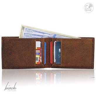8b510c8e6f Bi-Fold leather wallet with front credit pocket & inside partition with 4  card slots