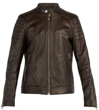 Belstaff Northcott Leather Biker Jacket - Mens - Dark Brown