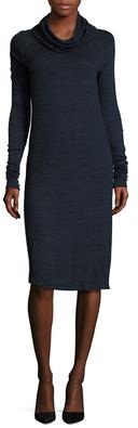 Three DotsCowlneck Raglan Sheath Dress