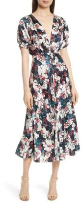 Women's Saloni Lea Silk Midi Dress $625 thestylecure.com