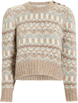 LoveShackFancy Cropped Fairisle Sweater