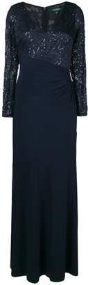 Lauren Ralph Lauren sequin embroidered maxi dress