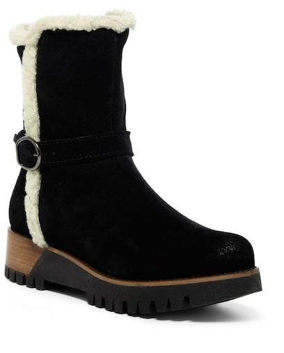 Manas Faux Shearling Mid Suede Boot