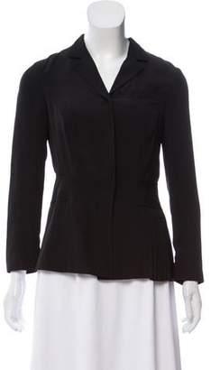 Prada Structured Button-Up Blazer