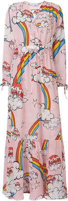 Mira Mikati multi-print maxi dress