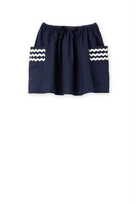 Country Road Cotton Linen Ric Rac Skirt