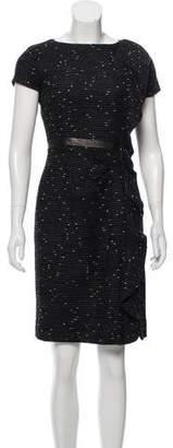 Valentino Ruffled Tweed Dress