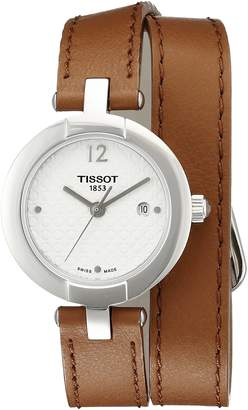 Tissot Women's T0842101601704 Pinky Analog Display Swiss Quartz Brown Watch