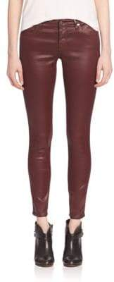 AG Adriano Goldschmied Leatherette Coated Ankle Pants