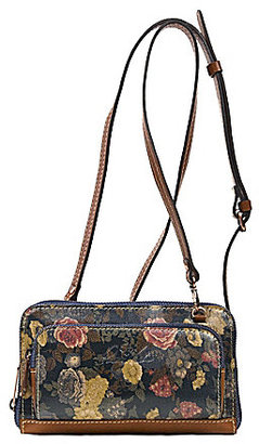 Patricia Nash Denim Fields Collection Andria Floral Cross-Body Wallet $129 thestylecure.com