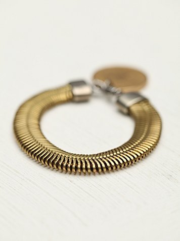 Free People Ax + Apple Spin And Coin Charm Bracelet