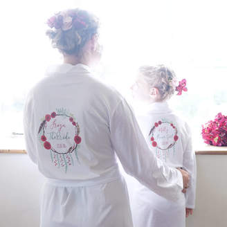 Sparks And Daughters Personalised Winter Wedding Dressing Gown