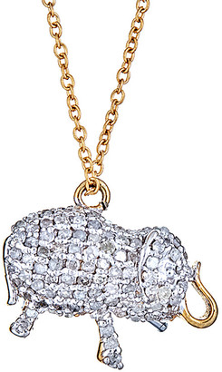 Forever Creations USA Inc. Forever Creations 14K 0.85 Ct. Tw. Diamond Elephant Necklace