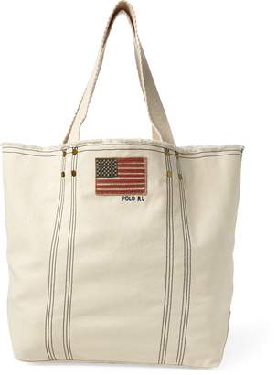 Ralph Lauren Flag Canvas Tote Bag