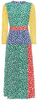 Rixo Charlene printed silk midi dress
