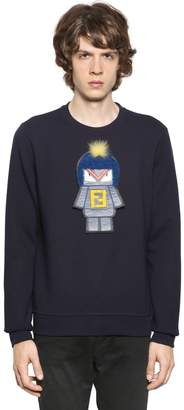 Fendi Monster Patch Cotton Sweatshirt