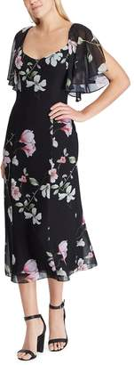 Chaps Women's Floral Fit & Flare Midi Dress
