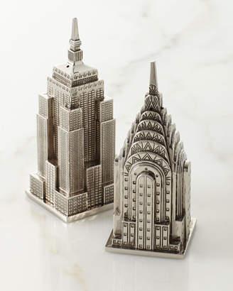 Godinger Empire State Building & Chrysler Building Salt & Pepper Shakers