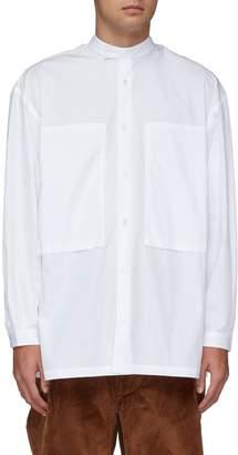 E. Tautz 'Lineman' Mandarin collar oversized boxy shirt
