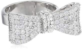 King Baby Studio Bow Ring Pave Cubic Zirconia