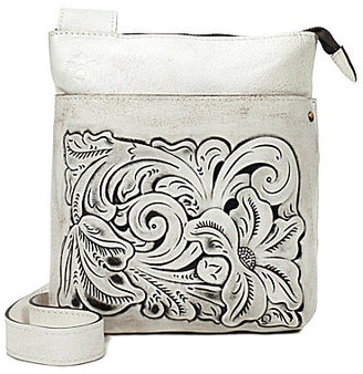 Patricia Nash Vintage White Washed Collection Stipes Cross-Body Bag $139 thestylecure.com