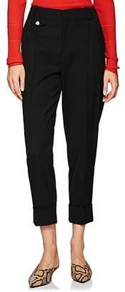 Proenza Schouler Women's Wool Cuffed Trousers - Black