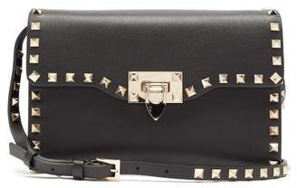 Valentino Rockstud Small Leather Cross Body Bag - Womens - Black