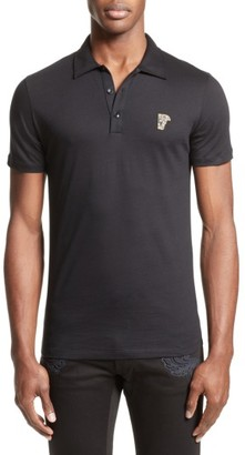 Men's Versace Collection Trim Fit Polo $125 thestylecure.com