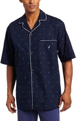 Nautica Men's Woven J-Class Camp Shirt
