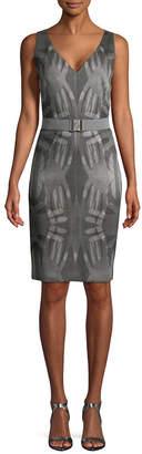 Akris Punto Belted Sheath Dress
