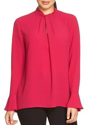 Chaus Long-Sleeve Hammered Blouse